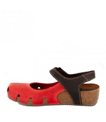 Sandalia Cerrada de Mujer INTERBIOS Rojo 5326